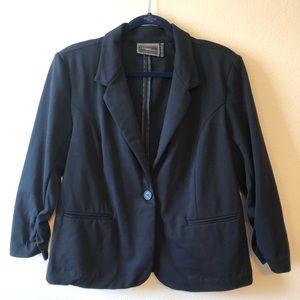 Christian Siriano Black Knit Blazer—XL
